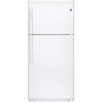 G.E. GTE18ETHWW 18.2 Cu. Ft. White Top Freezer Refrigerator - GTE18ETHWW - IN STOCK