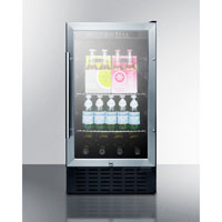 Summit SCR1841BADA 2.7 Cu. Ft. Stainless Under-Counter Refrigerator - SCR1841BADA - IN STOCK