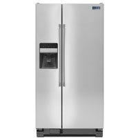 Maytag MSF25D4MDM 25.0 Cu. Ft. Stainless Side-by-Side Refrigerator - MSF25D4MDM - IN STOCK