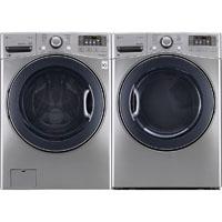 LG WM3770VPR Front Load Steam Washer/Dryer Pair - WM3770VPR - IN STOCK