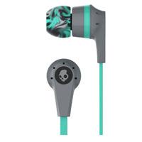 Skull Candy S2IKJY528 Inkd 2.0 In-Ear Wired Headphones with Mic - Gray/Mint - S2IKJY-528 / S2IKJY528 - IN STOCK