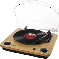 Ion MAXLPWOOD Audio Max LP Conversion Turntable with Stereo Speakers - MAXLPWOOD - IN STOCK