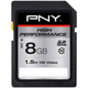 PNY 8GB Class 10 SDHC - P-SDHC8G10-EF / PSDHC8G10 - IN STOCK