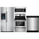 Frigidaire 4 Pc. Stainless Side-by-side Kitchen Package - FRIGKITST1 - IN STOCK
