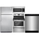 Frigidaire 4 Pc. Stainless Top Freezer Kitchen Package - FRIGKITSTTM - IN STOCK
