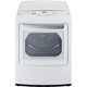 LG DLEY1701W Electric 7.3 Cu. Ft. White High Efficiency European Design Top Load Steam Dryer - DLEY1701W - IN STOCK