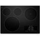 Kitchen Aid Achitech II KECC607BBL 30 in. Black 4 Burner Electric Cooktop - KECC607BBL - IN STOCK