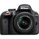 Nikon D3300 24.2 MP DSLR W/ DX VR Nikkor 18-55mm Kit Lens - D3300 - IN STOCK