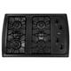 Whirlpool W3CG3014XB 30 in. Black 4 Burner Gas Cooktop - W3CG3014XB - IN STOCK