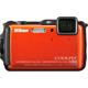 Nikon COOLPIX AW120 16MP 5x Zoom Waterproof Orange Digital Camera - AW120OR / AW120OR - IN STOCK