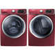 Samsung Merlot Front Load Washer/Dryer Pair - WF42H5400EPR - IN STOCK