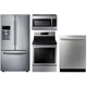 Samsung 4 Pc. Stainless French Door Kitchen Package - RF283DOORKIT - IN STOCK
