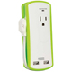 Audiovox 2 Outlet Travel Surge Protector with USB Charging Ports - PC2U20 - IN STOCK
