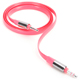 Griffin Fluoro Flat AUX Cable - Pink - GC37377 - IN STOCK