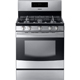 Samsung NX58F5500SS 5.8 Cu. Ft. Stainless 5 Burner Freestanding Range - NX58F5500SS - IN STOCK