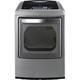 LG DLGY1202V Gas 7.3 Cu. Ft. Graphite High Efficiency European Design Top Load Steam Dryer - DLGY1202V - IN STOCK