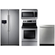 Samsung 4 Pc. Stainless Side-by-Side Kitchen Package - RS500STSKIT - IN STOCK