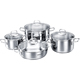 Korkmaz Korkmaz Perla Cookware Set of 4 Pieces C-MX-A1606  ( Silver) - A1606PERLA - IN STOCK