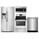 Frigidaire Gallery 4 Pc. Stainless Side-by-side Kitchen Package - FRIGGALST1 - IN STOCK