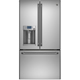 G.E. Cafe CFE28TSHSS 28.6 Cu. Ft. Stainless French Door Refrigerator with Hot Water Dispenser - CFE28TSHSS - IN STOCK