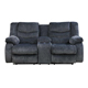 Ashley Signature Design Garek Blue Double Reclining Loveseat with Storage Console - 9200194 - IN STOCK