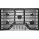 Whirlpool WCG51US6DS 36 in. Stainless 5 Burner Gas Cooktop - WCG51US6DS - IN STOCK