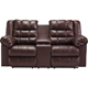 Ashley Signature Design Brolayne Saddle Contemporary DuraBlend Reclining Loveseat - 8320294 - IN STOCK