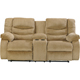 Ashley Signature Design Garek Sand Double Reclining Loveseat with Storage Console - 9200294 - IN STOCK