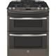 G.E. Profile PGS950EEFES 6.8 Cu. Ft. Slate 5 Burner Double Oven Slide-In Gas Range - PGS950EEFES - IN STOCK