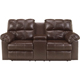 Ashley Signature Design 2900196 Kennard Chocolate Contemporary Power Double Reclining Loveseat - 2900196 / 2900196 - IN STOCK