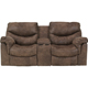 Ashley Signature Design Alzena Gunsmoke Contemporary Power Double Reclining Loveseat - 7140096 - IN STOCK