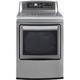 LG DLEX5780VE 7.3 Cu. Ft. Graphite EasyLoad White High Efficiency Top Load Steam Dryer - DLEX5780VE - IN STOCK