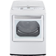 LG DLEY1701WE 7.3 Cu. Ft. White EasyLoad High Efficiency European Design Top Load Steam Dryer - DLEY1701WE - IN STOCK