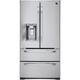 LG Studio LSMX211ST 20.5 Cu. Ft. Stainless Counter Depth 4 Door French Door Refrigerator - LSMX211ST - IN STOCK