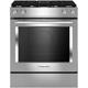 Kitchen Aid KSDG950ESS 6.4 Cu. Ft. Stainless Dual Fuel Downdraft Slide-In Range - KSDG950ESS - IN STOCK