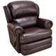 Franklin Corporation Bradford Chocolate Leather Recliner - 3509730970 - IN STOCK