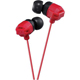 JVC XX Xtreme Bass Earbuds, Red - HAFX102R - IN STOCK