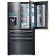 Samsung RF28JBEDBSG 27.8 Cu. Ft. Black Stainless Food ShowCase 4-Door French Door Refrigerator - RF28JBEDBSG - IN STOCK