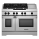 Kitchen Aid KDRS483VSS 48 in. Stainless 6 Burner Dual Fuel Commercial Style Range with Griddle - KDRS483VSS - IN STOCK