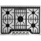 Frigidaire Professional 36 inch Gas Cooktop with Griddle - FPGC3677RS - IN STOCK
