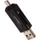 Unirex 4 in 1 USB/ Micro USB Reader - MSW002 - IN STOCK