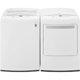 LG White HE Top Load Washer/Dryer Pair - WT1501WPR - IN STOCK