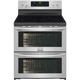 Frigidaire Gallery FGEF306TPF 7.2 Cu.Ft. Stainless 5 Burner Electric Double Oven Range - FGEF306TPF - IN STOCK