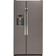 G.E. GZS22DMJES 21.9 Cu.Ft. Slate Counter Depth Side-by-Side Refrigerator - GZS22DMJES - IN STOCK