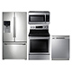 Samsung 4 Pc. Stainless Kitchen Package - RF263STKIT2 - IN STOCK
