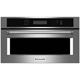 Kitchen Aid KMBP100EBS 30 in. Black Stainless Built-in Convection Microwave Oven - KMBP100EBS - IN STOCK