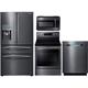 Samsung 4 Pc. Black Stainless Kitchen Package - RF28JBBSKIT2 - IN STOCK