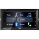 JVC 6.8 in. Double DIN Bluetooth In-Dash CD Car Stereo with SiriusXM and Bluetooth - KWV320 - IN STOCK