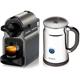 Nespresso Inissia Espresso Maker with Aeroccino Plus Milk Frother, Titan - A+C40-US-TI-NE / A+C40USTINE - IN STOCK