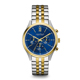 Caravelle New York Mens Silver & Gold Finish Chronograph Watch - 45A131 - IN STOCK